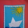 Мастер-класс по объёмной аппликации «Кораблик» с использованием техники оригами.
