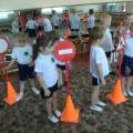 Фотоотчет спортивного развлечения «Школа правил дорожного движения».