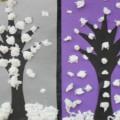Поделки своими руками «Деревья в снегу»