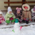 Конспект занятия по рисованию красками по представлению в средней группе «Весёлые снеговики»