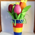 Мастер-класс «Тюльпаны из пластиковых ложек»