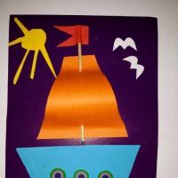 Детский мастер-класс «Подарок для папы на 23 февраля «Кораблик» (средняя группа)