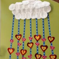 Мастер-класс «Панно для оформления группы к празднику «Облако сердечек»
