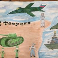 Создание стенгазеты «23 февраля — День защитника Отечества» с детьми подготовительной группы