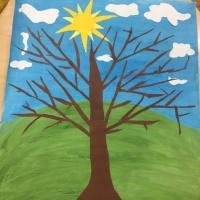 Детский мастер-класс по создании коллективной аппликации-картины «Дерево» в подготовительной группе