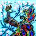 Картина из туалетной бумаги. Мастер-класс с пошаговым фото по изготовлению картины «Жар-птица»