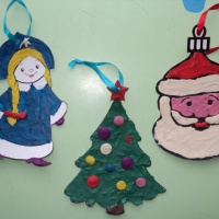 Фотоотчёт об изготовлении ёлочной игрушки в технике «пластилинография»