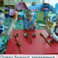Конспект занятия познавательного характера в младшей группе «Ложки разные нужны, ложки всякие важны»