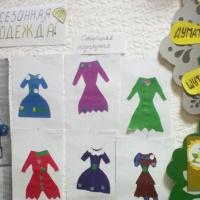 Конспект занятия по аппликации в разновозрастной группе для детей 5–6 лет «Беседа «Одежда, ателье»