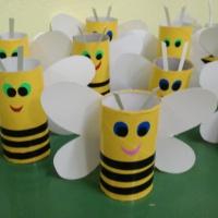 Мастер-класс по изготовлению поделки из бросового материала «Пчелки»