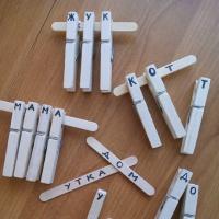 Дидактическая игра с прищепками «Собери слово»