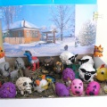 Мастер-класс «Овечка из ваты, пластилина и киндер-игрушки»