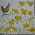 Конспект занятия по изобразительной деятельности (рисование, коллективная композиция) «Цыплята» в первой младшей группе