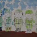 «Армейские учения». Фотоотчет о праздновании Дня защитника Отечества в первой младшей группе