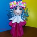 Мастер-класс «Модульное оригами «Куклы Мальвины»