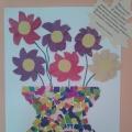 Детский мастер-класс «Ваза с цветами» (открытка из цветной бумаги)