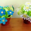 Мастер-класс «Цветы для мамы». Изготовление букета цветов из бумаги в горшочке