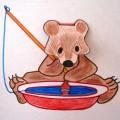 Мастер-класс по изготовлению игрушки с подвижной деталью «Мишка-рыболов»