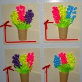 Поздравительная открытка для мам с 8 марта (средняя группа)