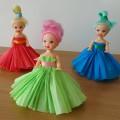 «Куколка». Подарок для девочек к 8 марта. Мастер-класс по изготовлению платья для куклы из гофрированной бумаги