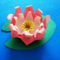 «Водяная лилия». Мастер-класс по изготовлению поделки из бумаги в технике оригами