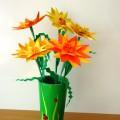 «Календула» (ноготки). Мастер-класс цветка из бумаги в технике оригами