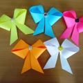 Детский мастер-класс «Бантик в технике оригами»