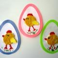 Детский мастер-класс по аппликации из ватных дисков «Пасхальное яйцо»