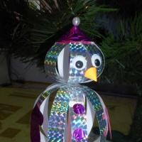 Фотоотчёт. Мастер-класс для родителей и детей старшей группы по теме «Новогодняя игрушка-снеговик».