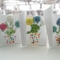 Цветущий кактус. Мастер класс по изготовлению открытки для мамы.