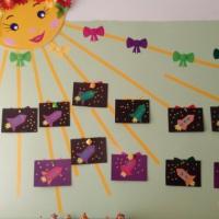 Конспект занятия по аппликации «Ракета в космос улетает» для детей старшей группы