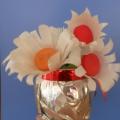 Букет из пластиковых стаканчиков «Цветочная фантазия»