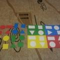 Дидактическая игра «Подбери по цвету и форме» для детей 3–5 лет