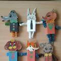 Изготовление игрушек из спичечных коробков и цветной бумаги