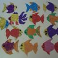 Лепка в старшей группе на тему: «Аквариумные рыбки» (нанесение пластилина на поверхность шаблона)
