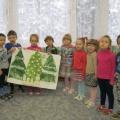 Коллективные работы «Хоровод снеговиков в лесу» и «Волшебный зонтик для красавицы Весны»