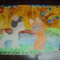 Фотоотчет о конкурсе детского рисунка по мотивам сказки «Кто сказал «Мяу»?»