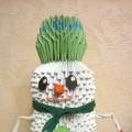 Мастер-класс. Модульное оригами «Снеговик»