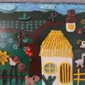 Картина из солёного теста «Кубанское подворье»