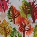 Конспект НОД по изодеятельности с использованием нетрадиционных техник рисования для детей старшей группы «Осенний лес»