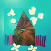 Поделка из природного материала «Домик»