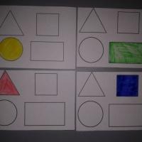 Дидактическая игра по ФЭМП «Геометрические раскраски»