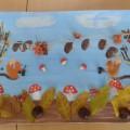 Коллективная работа детей «Что нам осень принесла» в технике «штамповка»