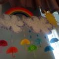 Пособие для знакомства детей средней группы с цветами радуги «Радужные зонтики»