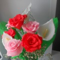 Мастер-класс: «Розы» из гофрированной бумаги