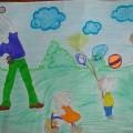 «День семьи, любви и верности». Рисунки детей подготовительной группы