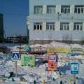 Оформление зимнего участка для подготовительной группы по теме «Правила дорожного движения»