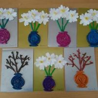 Букет с цветами. Пластилинография