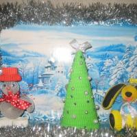 Фотоотчет о выставке поделок «Новогодняя сказка»