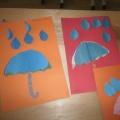 Урок по технологии в 1 классе. Аппликация «Цветные зонтики»